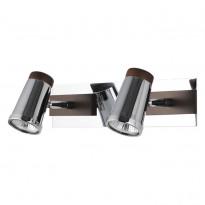 Спот N-Light 6205A/2GU10 Chrome + Brown Wood