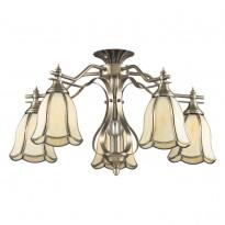 Светильник потолочный N-Light 662-05-52 Antique Brass + Tiffany