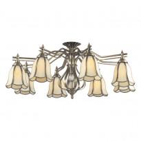 Светильник потолочный N-Light 662-08-52 Antique Brass + Tiffany