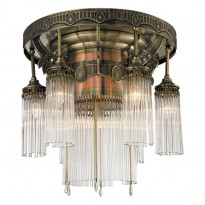 Светильник потолочный N-Light 664-07-52 Antique Brass