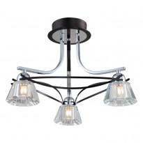 Светильник потолочный N-Light 89101-3 Chrome + Wengue