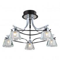 Светильник потолочный N-Light 89101-5 Chrome + Wengue
