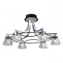 Светильник потолочный N-Light 89102-6 Chrome + Wengue