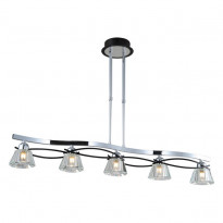 Светильник потолочный N-Light 89103-5 Chrome + Wengue