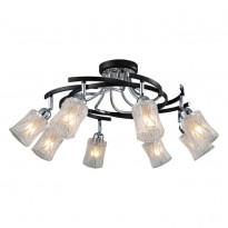 Светильник потолочный N-Light 89402-8 Chrome + Wengue