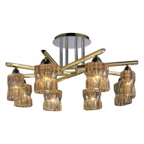 Светильник потолочный N-Light 914-08-33 Gold/Chrome + Shampagne