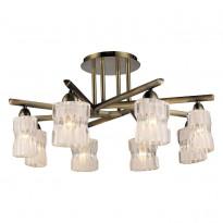 Светильник потолочный N-Light 914-08-53 Antique Brass + White