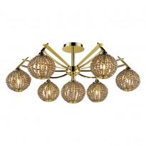 Светильник потолочный N-Light 917-07-33 Gold + Brown Crystal