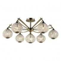 Светильник потолочный N-Light 917-07-53  Antique Brass + White Crystal