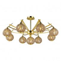 Светильник потолочный N-Light 917-09-33 Gold + Brown Crystal