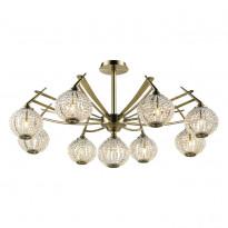 Светильник потолочный N-Light 917-09-53 Antique Brass + White Crystal