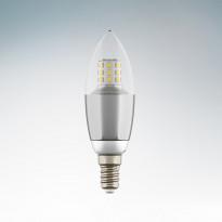 Светодиодная лампа Lightstar 220V C35 E14 7W=70W 60G CL/CH 4200K (белый) 940544