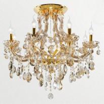 Светильник потолочный Crystal Lux BEAUTY PL 8+2 ORO/CHAMPAGNE