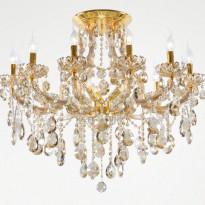 Светильник потолочный Crystal Lux BEAUTY PL 12+3 ORO/CHAMPAGNE