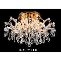 Светильник потолочный Crystal Lux BEAUTY PL 6 ORO/CRYSTAL