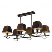 Светильник потолочный N-Light 432-06-17 Chrome + Wengue