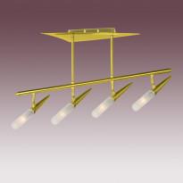Светильник потолочный N-Light P-743/4 Satin Gold+Gold