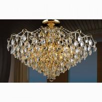 Светильник потолочный Crystal Lux CONTESSA PL12 GOLD