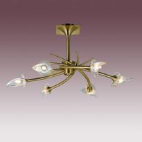 Светильник потолочный N-Light PX-0653/6A Antique Brass