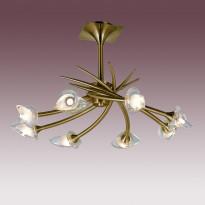 Светильник потолочный N-Light PX-0653/8A Antique Brass
