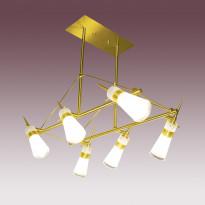 Светильник потолочный N-Light P-493/6 Satin Gold