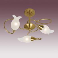 Светильник потолочный N-Light P-504/3 Antique Brass