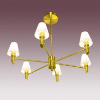 Светильник потолочный N-Light P-796/6 Satin Gold