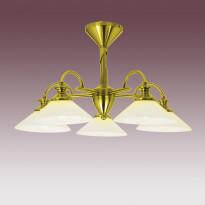 Светильник потолочный N-Light P-809/3B Satin Gold