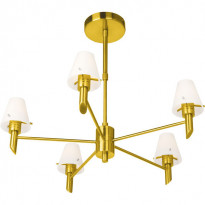 Светильник потолочный N-Light P-796/5 Satin Gold