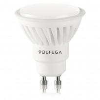 Светодиодная лампа софит Voltega 220V GU10 7W (соответствует 75 Вт) 600Lm 2800K (теплый белый) 4700