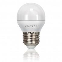 Светодиодная лампа шар Voltega 220V E27 5.7W (соответствует 60 Вт) 480Lm 4000K (белый) 4703