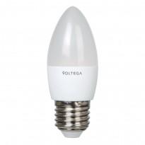 Светодиодная лампа свеча Voltega 220V E27 5.4W (соответствует 60 Вт) 470Lm 4000K (белый) 5744
