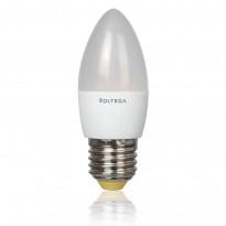 Светодиодная лампа свеча Voltega 220V E27 5.4W (соответствует 60 Вт) 450Lm 2800K (теплый белый) 5743