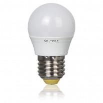 Светодиодная лампа шар Voltega 220V E27 5.4W (соответствует 60 Вт) 450Lm 2800K (теплый белый) 5749