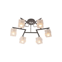 Светильник потолочный IDLamp Vittoria 205/6PF-Blackchrome