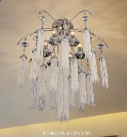 Светильник потолочный Crystal Lux ETHNO PL 6 CRYSTAL
