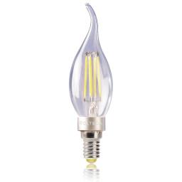 Светодиодная лампа свеча на ветру Voltega 220V E14 4W (соответствует 40 Вт) 390Lm 2800K (теплый белый) 5713