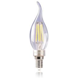 Светодиодная лампа свеча на ветру Voltega 220V E14 4W (соответствует 40 Вт) 420Lm 4000K (белый) 5714