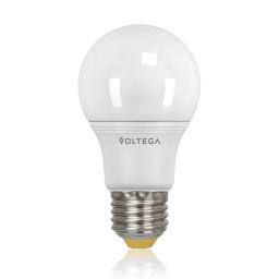 Светодиодная лампа общего назначения Voltega 220V E27 8W (соответствует 75 Вт) 730Lm 2800K (теплый белый) 5735