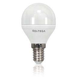 Светодиодная лампа шар Voltega 220V E14 5.7W (соответствует 60 Вт) 480Lm 4000K (белый) 4701