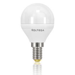 Светодиодная лампа шар Voltega 220V E14 5.7W (соответствует 60 Вт) 500Lm 2800K (теплый белый) VG2-G2E14warm6W