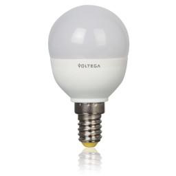 Светодиодная лампа шар Voltega 220V E14 5.4W (соответствует 60 Вт) 450Lm 2800K (теплый белый) 5747